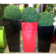 GRP Fibreglass Tall tapered square planters from ;otstore.co.uk